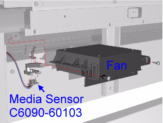 Q1251-60261 C6090-60103 DesignJet 5500 Series Media Sensor