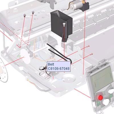 C8108-67048 DesignJet InkJet Drive belt for output mechanism