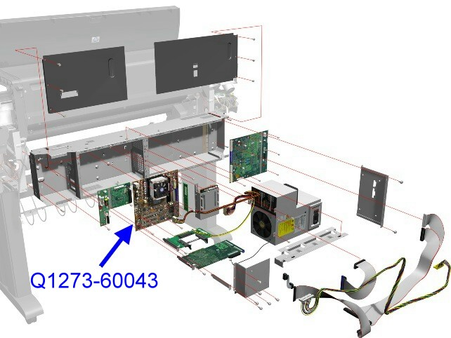 Q1273-60250 / Q1273-60043 DesignJet 4000 / 4500 / 4500 MFP Main Logic Board