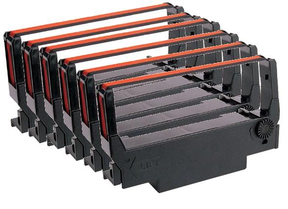 ERC30 / ERC34 / ERC38 / BR506 Black/Red Compatible 6 Pack